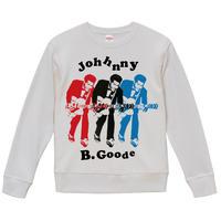 【Chuck berry-JOHNNY B. GOODE /チャックベリー】9.3オンス スウェット/WH/SW-432
