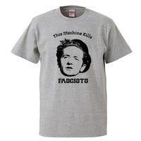 【Woody Guthrie-ウディ・ガスリー/キルズ・ファシスト】5.6オンス Tシャツ/GY/ST- 353