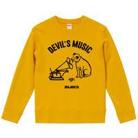 【Devils Music/Blues】ニッパーくんパロディ 9.3オンス スウェット/YL/SW- 439