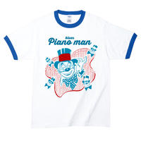 【Blues Piano Man/ブルース・ピアノマン】5.3オンス Tシャツ/WHBL/RT- 306