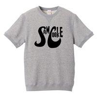 【Sam Cooke-サムクック/ロゴ・スウェット】8.4オンス ショートスリーブ スウェット/GY/SWW-240