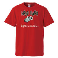 【Lightnin' Hopkins-MOJO HAND/ライトニンホプキンス-モジョハンド】5.6オンス Tシャツ/RD/ST-114