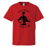 【LINK WRAY FAN CLUB/リンクレイ・ファンクラブ】5.6オンス Tシャツ/RD/ST- 597