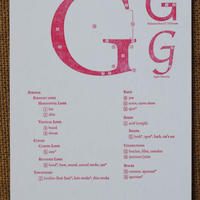 "Letterpress Type Anatomy Postcard ""G"""