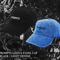 LOGO 6 PANEL CAP - BLACK/LIGHT DENIM