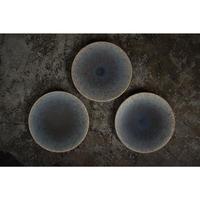 五寸皿 ブルーグレー 岩崎龍二