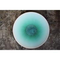 8寸皿 アイスグリーン 岩崎龍二