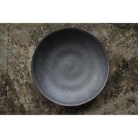 黒石釉7寸皿 井上茂