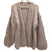 Handcraft Knit OVERSIZED mohair cardigan  / USA