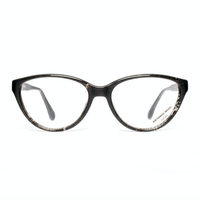 VINTAGE Eyeglasses frame / marbled transparent black