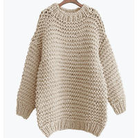 Handcraft OVERSIZED Crew-neck Knit / USA