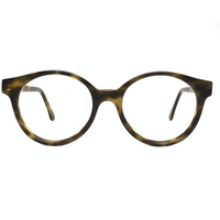 VINTAGE Eyeglasses frame / jade brown