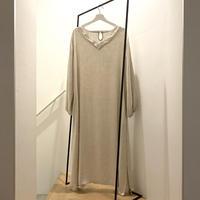 Vneck Long Kaftan Dress / Cotton&Linen