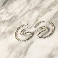 B E A U T Y : 3D hoop Pierce / Earring Silver925