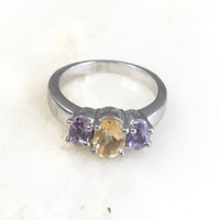 Amethyst & Citrine Ring / VINTAGE No,256