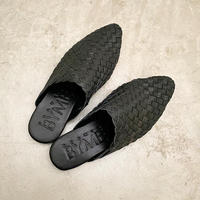 Mesh Leather Sandals : Black / BALI