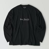 【再販】live freely T-shirt / Black