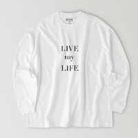 LIVE my LIFE T-shirt / White
