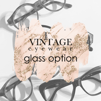 VINTAGE Eyeglasses / glass option