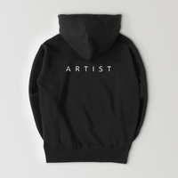 A R T I S T sweat hoodie / BLACK