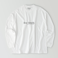 live freely T-shirt / White