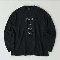 Simple is the Best T-shirt / Black