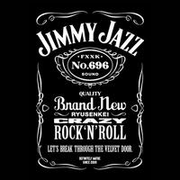 TEE - 014:JIMMY JAZZ (BLACK)