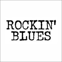 TEE - 030:ROCKIN' BLUES (WHITE)