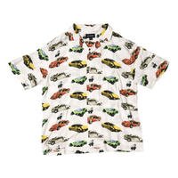BRONZE56K WRECKED CARS BUTTON UP WHITE