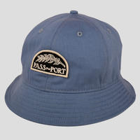 PASS~PORT QUILL PATCH 6 PANEL BUCKET HAT STEEL BLUE