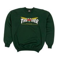 THRASHER  Venture Collab Crewneck (Forest Green)