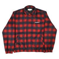 YARDSALE Tartan Harrington Jacket Red/Navy