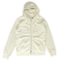 POP  FULL ZIP LOGO HOODED SWEAT OFF WHITE