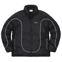 DIME COURT PUFFER JACKET - BLACK