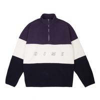 DIME 3 TONE FLEECE PULLOVER Purple