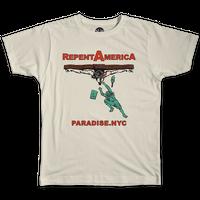 PARADISE NYC REPENT AMERICA TEE WHITE