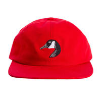 GRAND COLLECTION GOOSE EMBROIDERED CAP RED