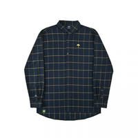 HELAS CLASSIC CARREAUX SHIRT DARK GREEN