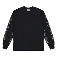 THE NATIONAL SKATEBOARD I'M DOWN LONGSLEEVE - BLACK