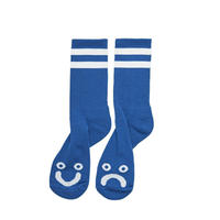 POLAR SKATE CO.  HAPPY SAD SOCKS R.BLUE