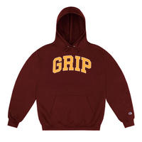 CLASSIC GRIP GRIP HOODIE WITH 90s PUFF PRINT - BURGUNDY