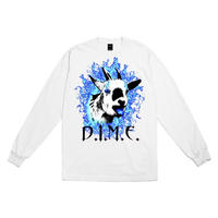 DIME FIRE GOAT L/S T-SHIRT - WHITE
