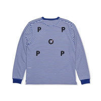 POP TRADING COMPANY POP/EYE STRIPED LONGSLEEVE Blue/White