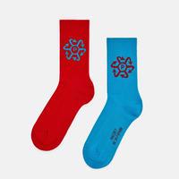 RASSVET Socks Red/ Blue