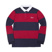 DIME STRIPED RUGBY SHIRT NAVY & RED