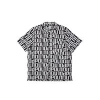 POLAR SQUARE LOGO SHIRT BLACK/WHITE