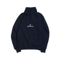 Hellrazor Trademark Logo Half Zip Sweater - Navy
