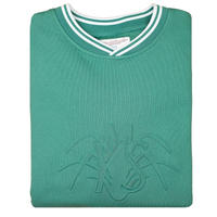 YARDSALE Fern Green YS Embossed Sweatshirt