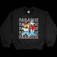PARADISE KRISS KROSS CREWNECK SWEATSHIRT BLACK