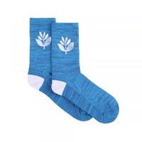 MAGENTA SOCKS MID - BLUE/WHITE